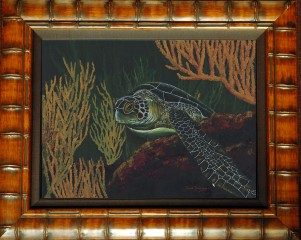 Black Sea Turtle Limited Edition Giclee
