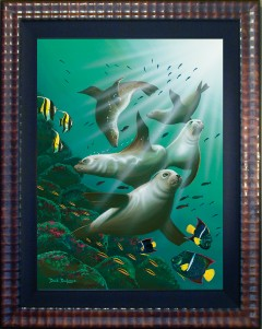 Galapagos Sea Lions Limited Edition Giclee