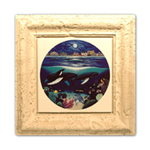 "Coral Framed 12""x12"" Ceramic Tile"