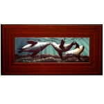 "Mahogany Framed 6"" x 18"" Ceramic Tile"