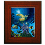 "Mahogany Framed 8"" x 10"" Ceramic Tile"