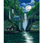 Moon Over the Falls - Limited Edition Giclee