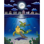 Turtle Drive Limited Edition Giclee