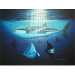 Whale-Shark and Mantas Limited Edition Giclee